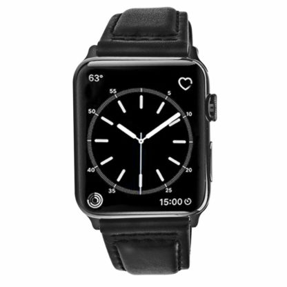 Apple Watch Band, Wolait Soft Genuine Sheep Leather Bands Strap for Apple Watch Series 3 Series 2 Series 1 Black, 38mm 3