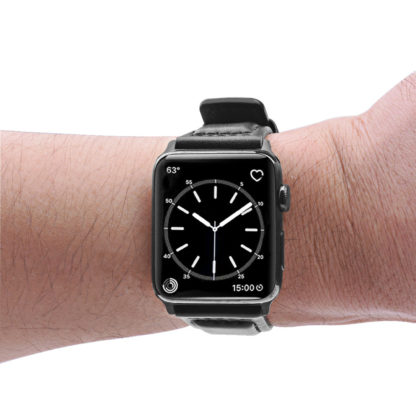 Apple Watch Band, Wolait Soft Genuine Sheep Leather Bands Strap for Apple Watch Series 3 Series 2 Series 1 Black, 38mm 6