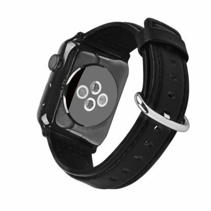 Apple Watch Band, Wolait Soft Genuine Sheep Leather Bands Strap for Apple Watch Series 3 Series 2 Series 1 Black, 38mm 2