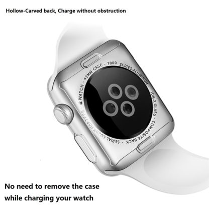 Apple Watch 3 Case, [2pack] Wolait Clear Soft TPU Case with Built-in Screen Protector for Apple Watch Series 3 42mm 3