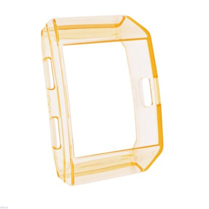 Fitbit Ionic Case, Wolait TPU Protective Frame Shock Resistant Bumper for Ionic Smart Watch- Transparent Orange 2