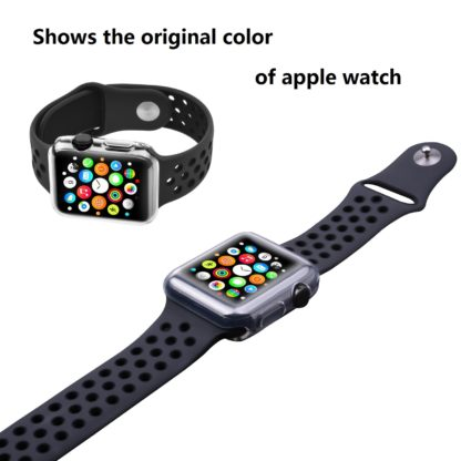 Wolait Compatible with Apple Watch 3 Screen Protector Case 42mm, Clear Soft TPU Case with Built-in Screen Protector for iWatch 42mm Series 3 Series 2 Series 1[2pack] 7