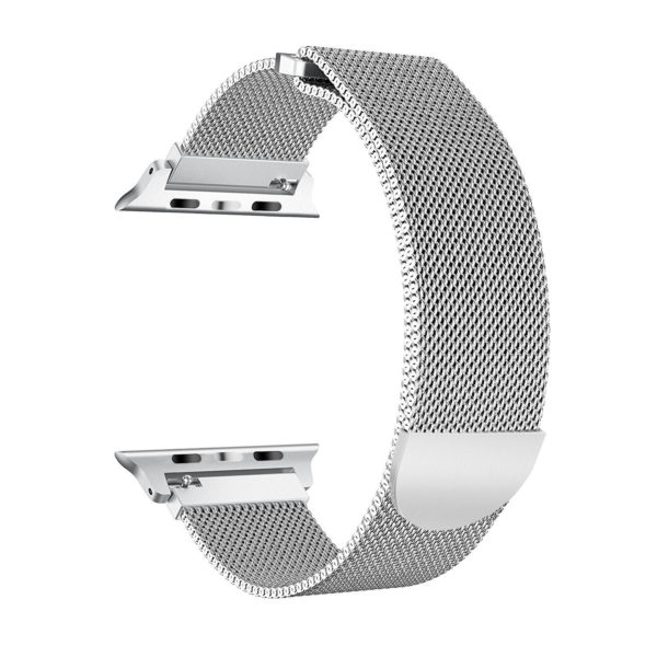 Wolait Compatible with Watch Band 38mm 40mm 42mm 44mm, Stainless Steel Mesh with Adjustable Magnetic Closure for iWatch Series 4 Series 3 Series 2 Series 1 (Silver, 38mm/40mm) 2