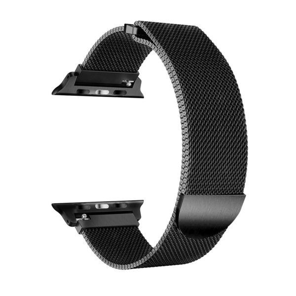 Wolait Compatible with Watch Band 38mm 40mm 42mm 44mm, Stainless Steel Mesh with Adjustable Magnetic Closure for iWatch Series 4 Series 3 Series 2 Series 1 (Black, 42mm/44mm) 2