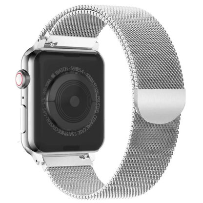 Wolait Compatible with Watch Band 38mm 40mm 42mm 44mm, Stainless Steel Mesh with Adjustable Magnetic Closure for iWatch Series 4 Series 3 Series 2 Series 1 (Silver, 38mm/40mm) 1