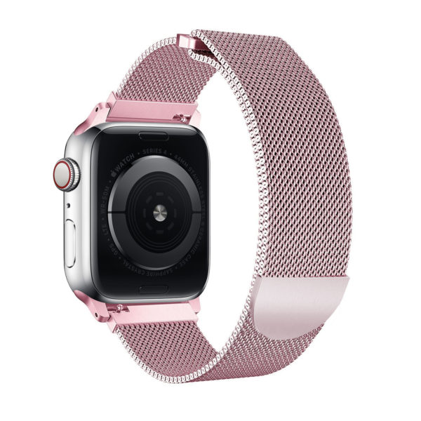 Wolait Compatible with Watch Band 38mm 40mm 42mm 44mm, Stainless Steel Mesh with Adjustable Magnetic Closure for iWatch Series 4 Series 3 Series 2 Series 1 (Rose Gold, 38mm/40mm) 2