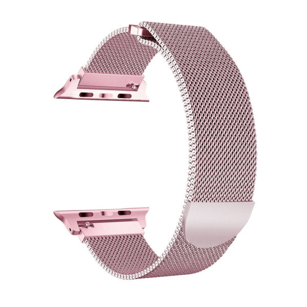 Wolait Compatible with Watch Band 38mm 40mm 42mm 44mm, Stainless Steel Mesh with Adjustable Magnetic Closure for iWatch Series 4 Series 3 Series 2 Series 1 (Rose Gold, 38mm/40mm) 1