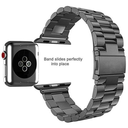 Wolait Compatible with Apple Watch Band 40mm Series 5, Stainless Steel Replacement Band for iWatch Series 5/4 40mm Series 3/2/1 38mm 6